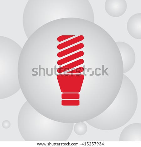 Fluorescent lamp vector icon - stock vector
