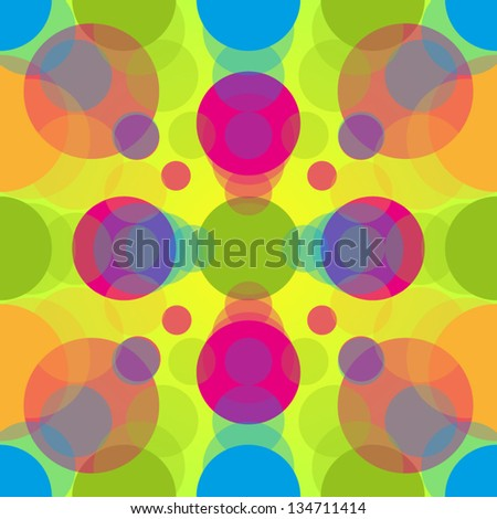 Fluorescent 60s Pattern - stock vector