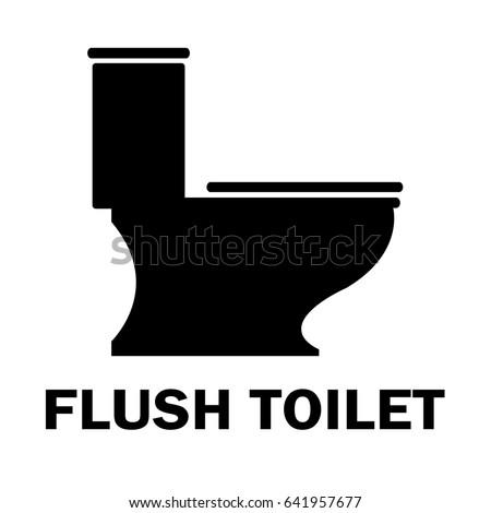 Flush Toilet Vector Icon