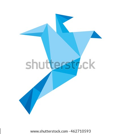 fly silhouette low poly icon vector illustration icon