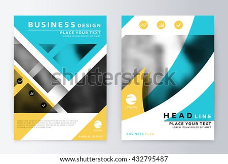 Flyer annual report layout. Leaflet cover presentation layout. Cover design. Presentation template business flyer a4