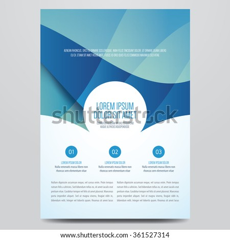 Flyer, brochure, annual report, magazine cover vector template. Modern blue corporate design. - stock vector