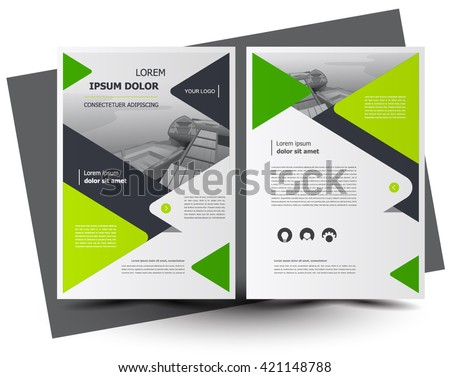 Flyer brochure design, business flyer size A4 template, creative leaflet, trend cover - stock vector