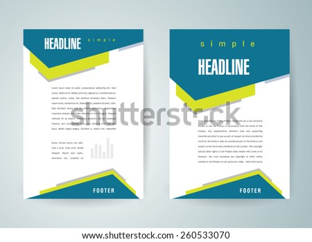 flyer brochure design template abstract - stock vector