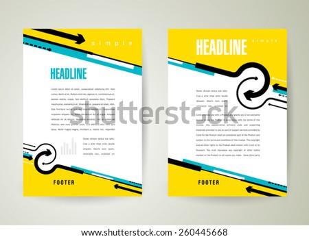 flyer brochure design template arrows lines circles - stock vector