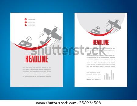plumbing brochure design plumbing service plumbing materials tools vector stock vector