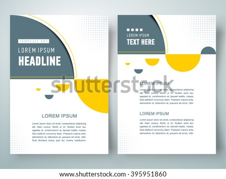 flyer brochure design template geometric abstract sphere, size A4 - stock vector