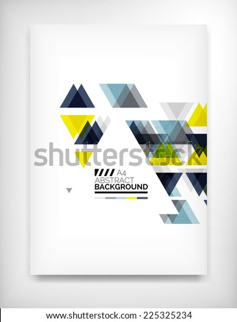 Flyer, Brochure Design Template, Geometric Shape Unusual Abstract Background - stock vector