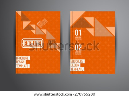 Flyer, Brochure Design Templates. Geometric Abstract Modern Backgrounds. Presentation, Brochure or Flyer Infographic Concept. - stock vector