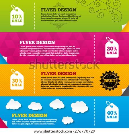 flyer brochure designs sale price tag ベクター画像素材 276770729