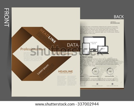 Flyer, Brochure , Magazine cover for Print and Publishing. Can be use as a marketing material. Vector eps 10 - stock vector