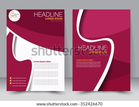Flyer, brochure, magazine cover template design for education, presentation, website. Red color. Editable vector illustration - stock vector