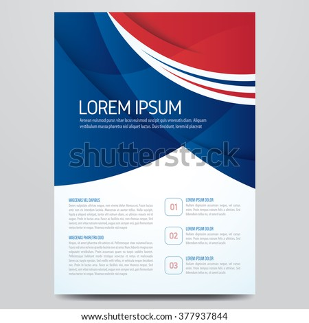 Flyer, brochure, poster, annual report, magazine cover vector template. Modern blue and red corporate design. - stock vector