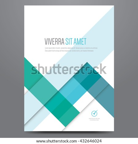 Flyer, brochure, poster, annual report, magazine cover vector template. Modern blue corporate flat design. - stock vector