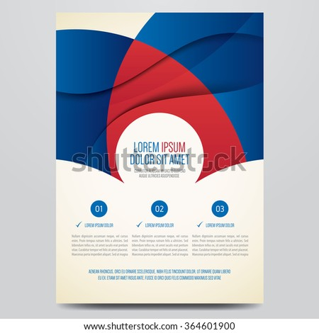 Flyer, brochure, poster, annual report, magazine cover vector template. Modern red and blue corporate design. - stock vector