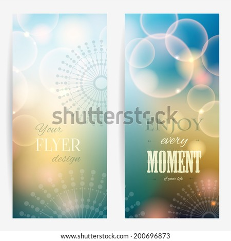 Flyer design. Abstract vector background