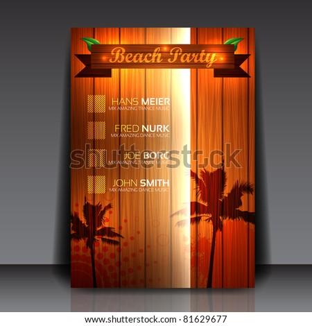 Flyer Design - EPS10 Vector Illustration - stock vector