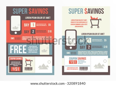 Flyer Design Template. Sale, offers and promotions vector template. - stock vector