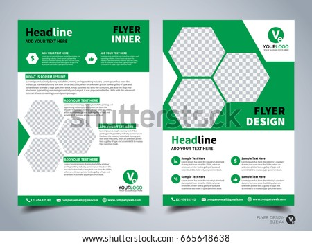 flyer template brochure design editable a4 stock vector