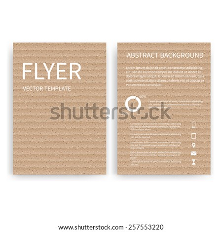 Flyer design templates. Set of cardboard A4 brochure design templates with package abstract modern backgrounds. Infographic concept, mobile technologies, applications and online services - stock vector