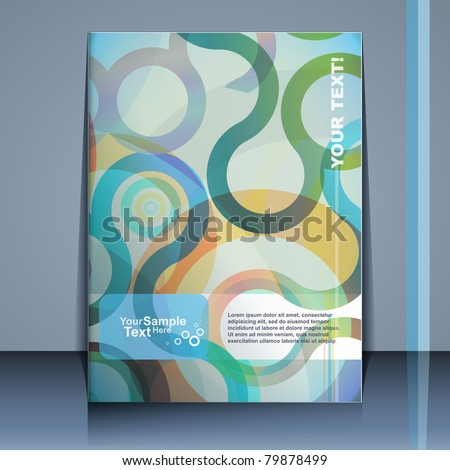 Flyer design, vector - stock vector