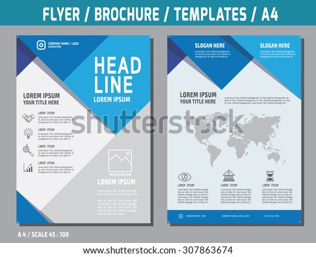 Flyer design vector template in A4 size. Brochure booklet cover annual report layout. Business concept illustration.  - stock vector
