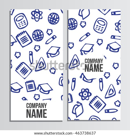 Flyer design with back to school pattern. Back to school branding background