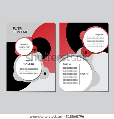 flyer design with circle brochure template vector background