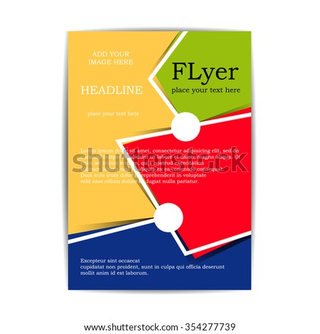 flyer two colors flyer your business stock vector 354277739