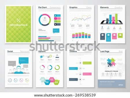 Flyer Infographics Brochure Templates Vector Illustrations Stock ...