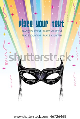 Flyer / Invitation / Declaration - stock vector