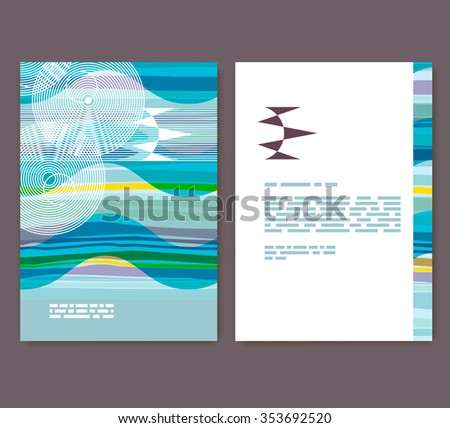 Flyer, leaflet, booklet layout. Editable design template. A4 brochure with abstract elements and patterns - stock vector