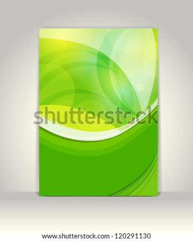 Flyer or brochure template, abstract design - stock vector