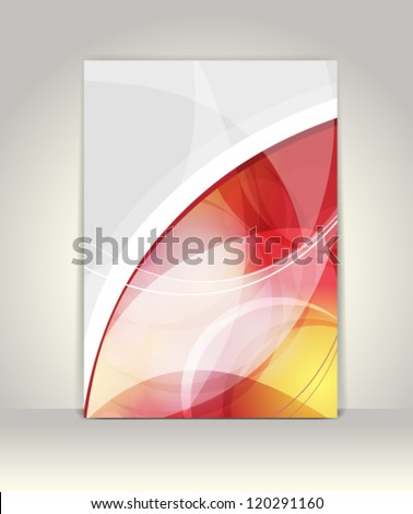 Flyer or brochure template, abstract design - stock vector