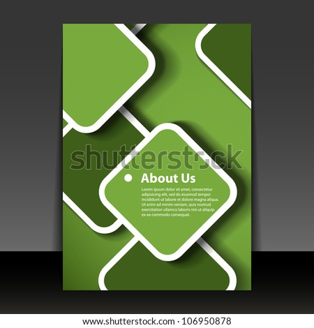 Flyer or Cover Design - stock vector