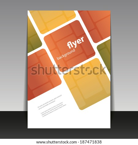 Flyer or Cover Design with Abstract Checkered Pattern - stock vector