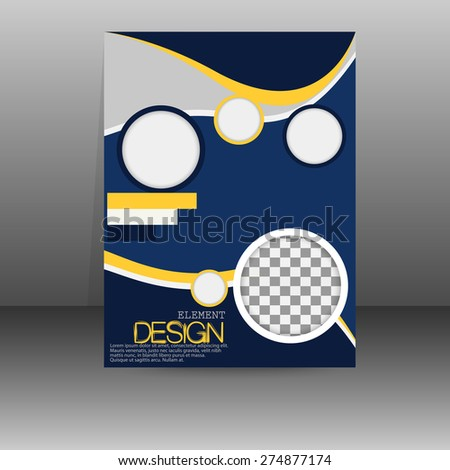 Flyer, poster, banner, brochure cover template. Booklet abstract vector design. Editable A4 format - stock vector