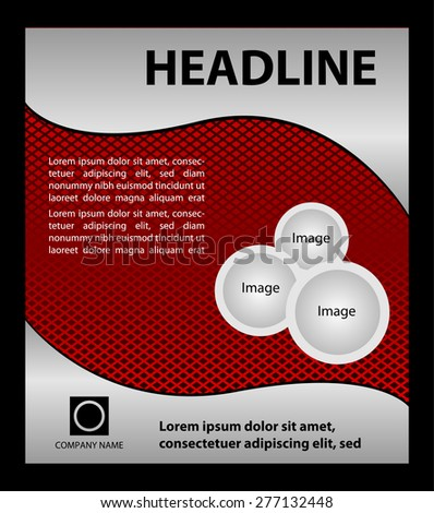 Red Flyer Template Vector Stock Vector   Shutterstock