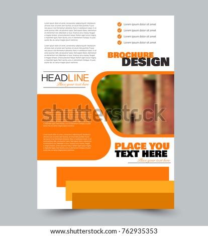 flyer template abstract brochure design vector illustration orange color