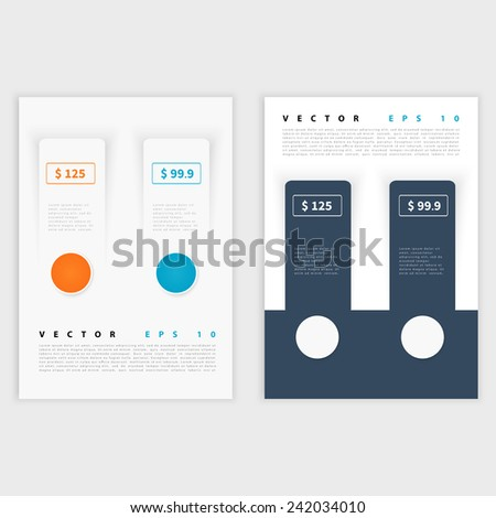 Flyer template back and front design. Brochure design templates collection with flat backgrounds