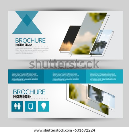 Flyer Template Banner Web Header Set Stock Vector 631692230
