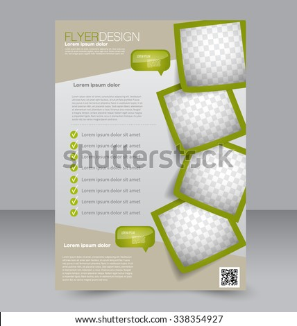 Flyer Template. Brochure Design. Editable A4 Poster For Business,  Education, Presentation,  Flyer Samples Templates
