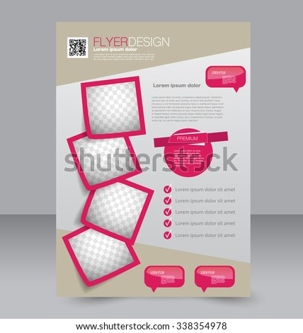 Flyer templates stock photos royalty free images for Editable brochure templates