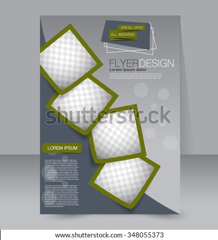 Flyer Template Brochure Design Editable A 4 Stock Vector 348055373