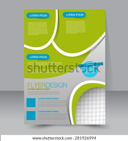 Vector Empty Bifold Brochure Print Template Stock Vector