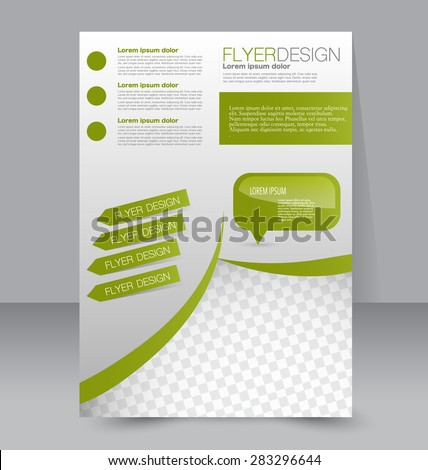 Vector Flyer Template Mock Up Mojito Stock Vector 351598358