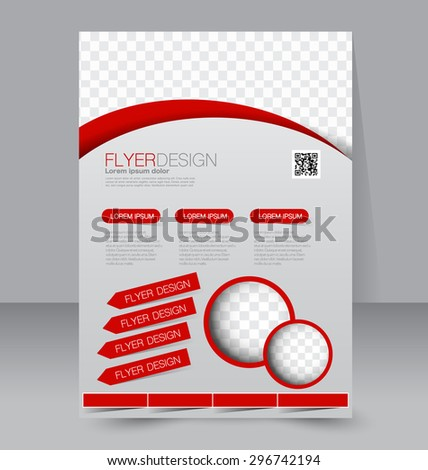 Vector Empty Brochure Template Design Red Stock Vector 235828636