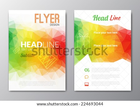 Flyer template. Cover Magazine. Brochure template. Colorful background design, vector illustration  - stock vector