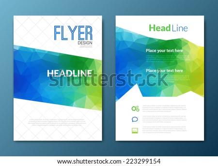 Flyer template. Cover Magazine. Brochure template. ?olorful background design, vector illustration  - stock vector
