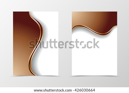 Flyer template design. Abstract flyer template vector illustration. Flyer chocolate template in wavy style - stock vector